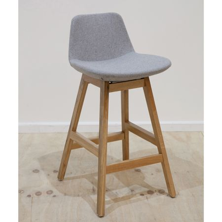 Parker Wooden Counter Stool Fabric (multiple colour options)