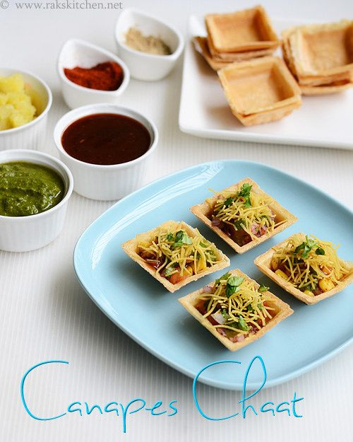 Canapes chaat recipe recipe and canapes for Canape fillings indian