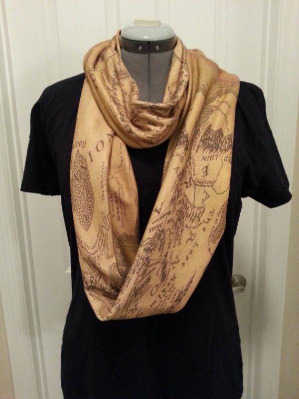 Lord of the Rings Middle Earth infinity scarf (Rachel Bradford).