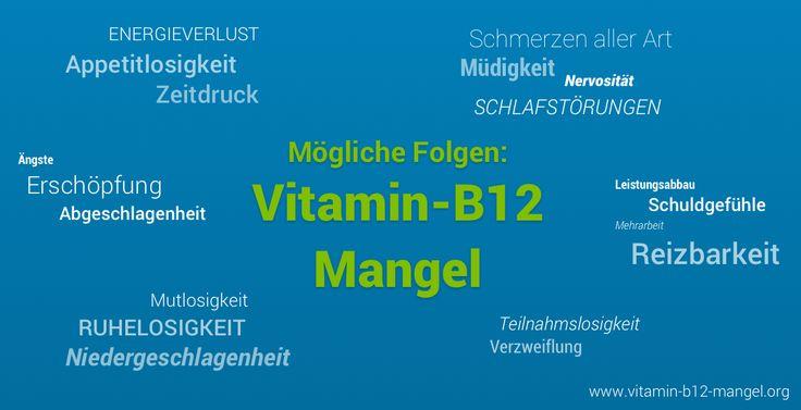 Vitamin B12-Mangel Symptome