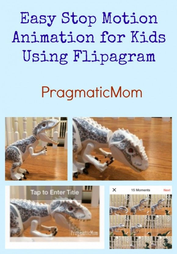 I figured out an easy way to create Easy Stop Motion Animation for Kids using Flipagram   Check out my son's stop motion animation using Jurassic World Legos :: PragmaticMom