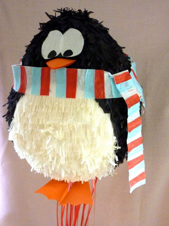 Pinata Penguin with scarf by DalePinatas on Etsy, $45.00