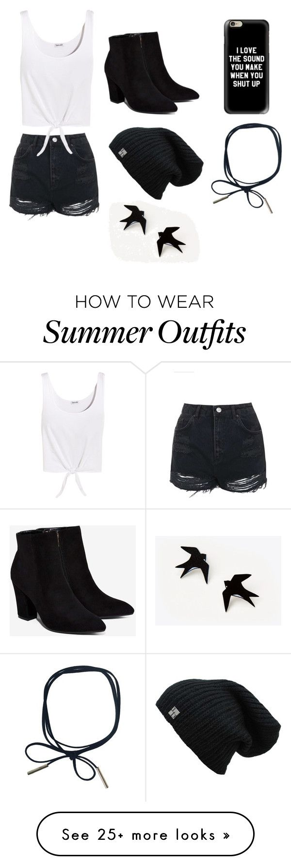 """""""Violet's Outfit for Summer"""" by mint-bowtie on Polyvore featuring Topshop, Billini, Splendid and Casetify"""