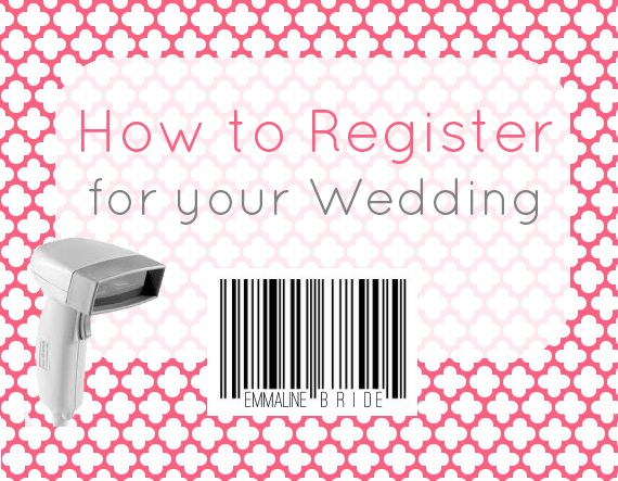 Brides: if you're wondering how to register for your wedding, you've come to the right place! It's National Registry Month and we're celebrating the best way we know how: with a post on how to regi...