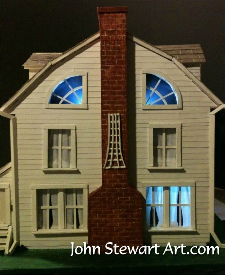 The Amityville Horror house scale model by johnstewartart