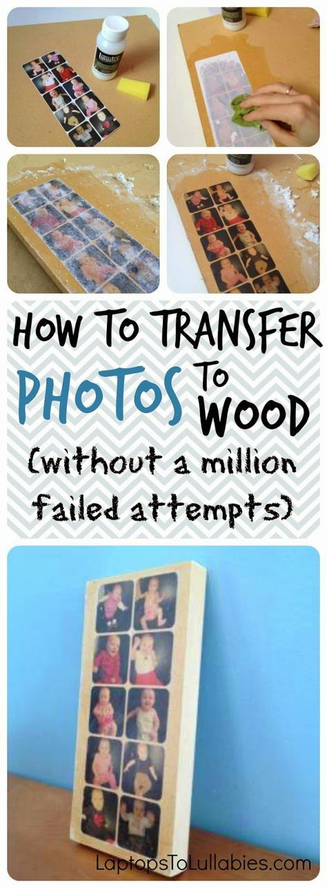 How to transfer photos to wood using gel medium (without a million failed attempts) // LaptopsToLullabies.com