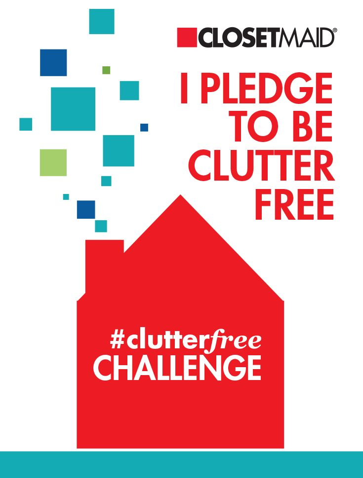 I pledge to live #ClutterFree. Join me and be part of ClosetMaid's #ClutterFree Challenge by visiting their Facebook page and following the instructions to enter.  A repin of this pin does not count as an entry into the promotion. Don't wait, live #ClutterFree and you could win big!