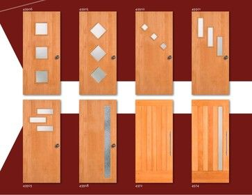 Mid2Mod -- A Trendspotting Guide to Interior and Exterior DOORS - midcentury - front doors - Simpson Door