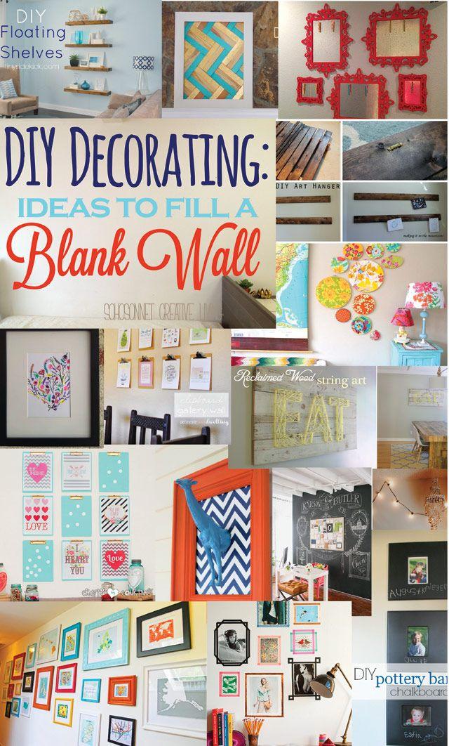 Best 25 wall decorations ideas on pinterest diy wall art diy wall and photo wall decor - Decorating blank walls ...