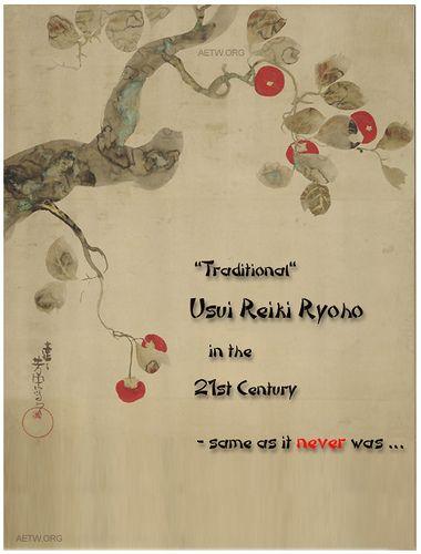 Usui Reiki Ryoho in the 21st C | aetw.org
