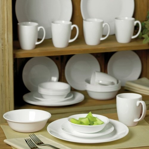 Corelle Livingware Winter Frost White Dinnerware Set Service for 6 or a cheaper 8 piece. My great grandmother used these dishes and I\u0027ve always been in ... & 53 best Where To Buy images on Pinterest | Dish sets Dinnerware ...