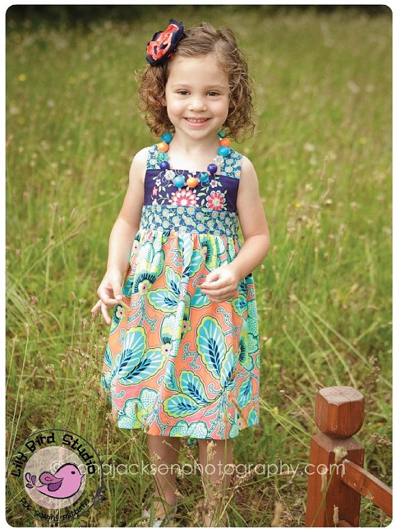 Lily Bird Studio PDF Sewing Pattern - Spring dress - perfect flower girl dress - 1 to 10 years - FREE Shipping on Etsy, $7.90