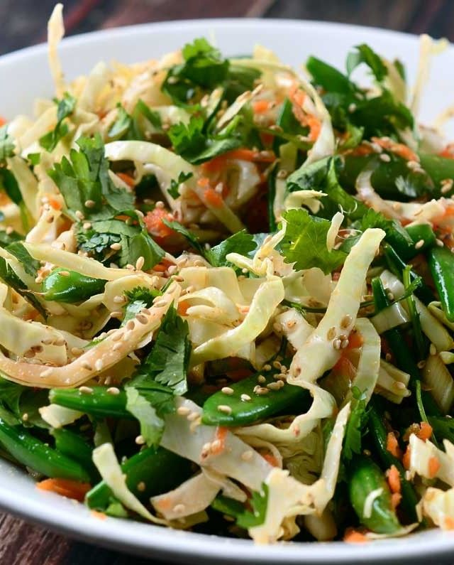Asian Cabbage Salad with Ponzu Dressing Recipe | lifesambrosia.com