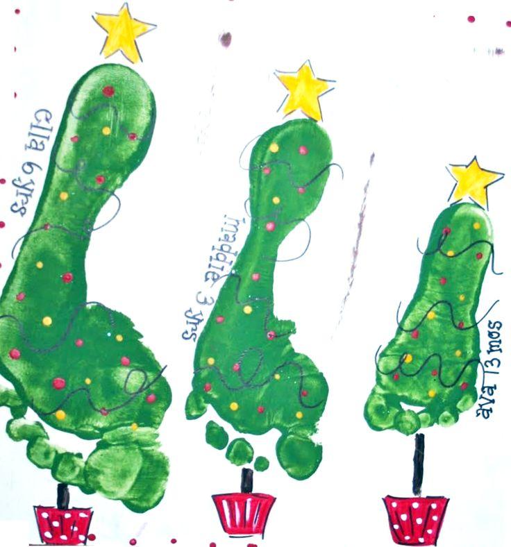 35 sugestões de arte atividades para o Natal carimbando a mão da criançada! - ESPAÇO EDUCAR