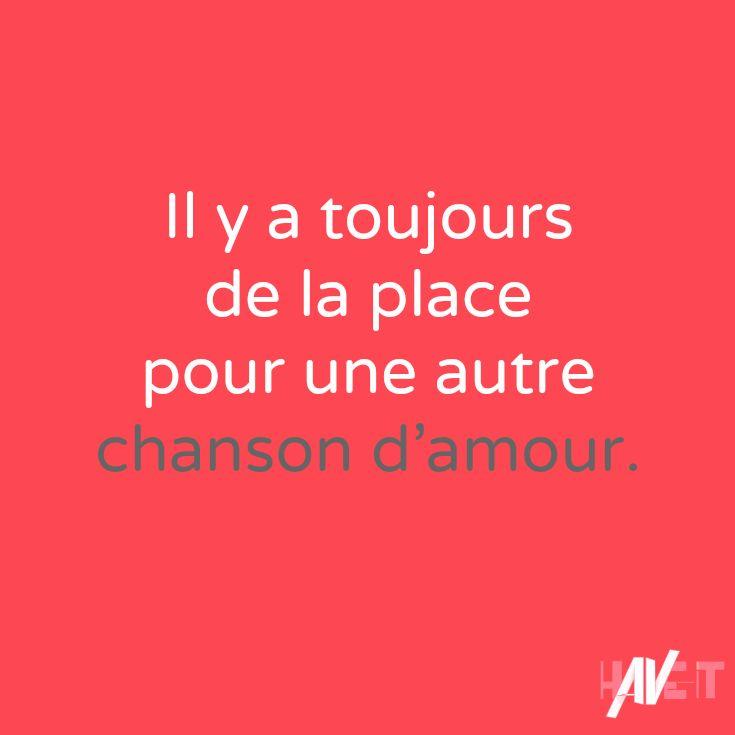 """""""Il y a toujours de la place pour une autre chanson d'amour"""" http://www.have-it.fr/effacer-la-concurrence/ #concurrence #entrepreneur #citation"""