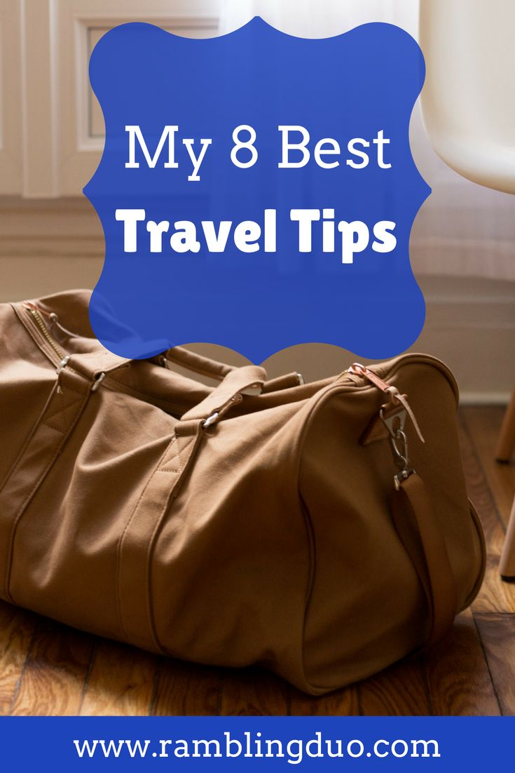 Traveling doesn't always go as smoothly as you would hope. Here are our top 8 travel tips that we use when we travel. You can never have too many travel hacks! Don't forget to save this to your travel board.