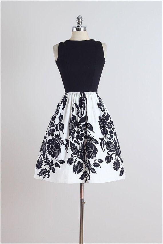 Floración de la noche. vestido vintage de por millstreetvintage