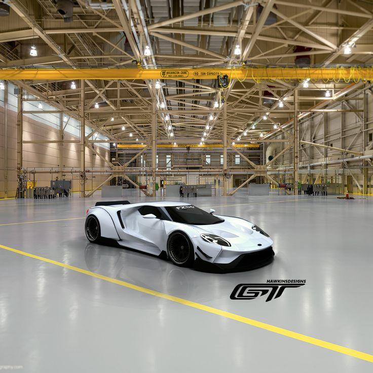 ArtStation - 2017 Ford GT WideBody StormTrooper Edition., Ryan Hawkins