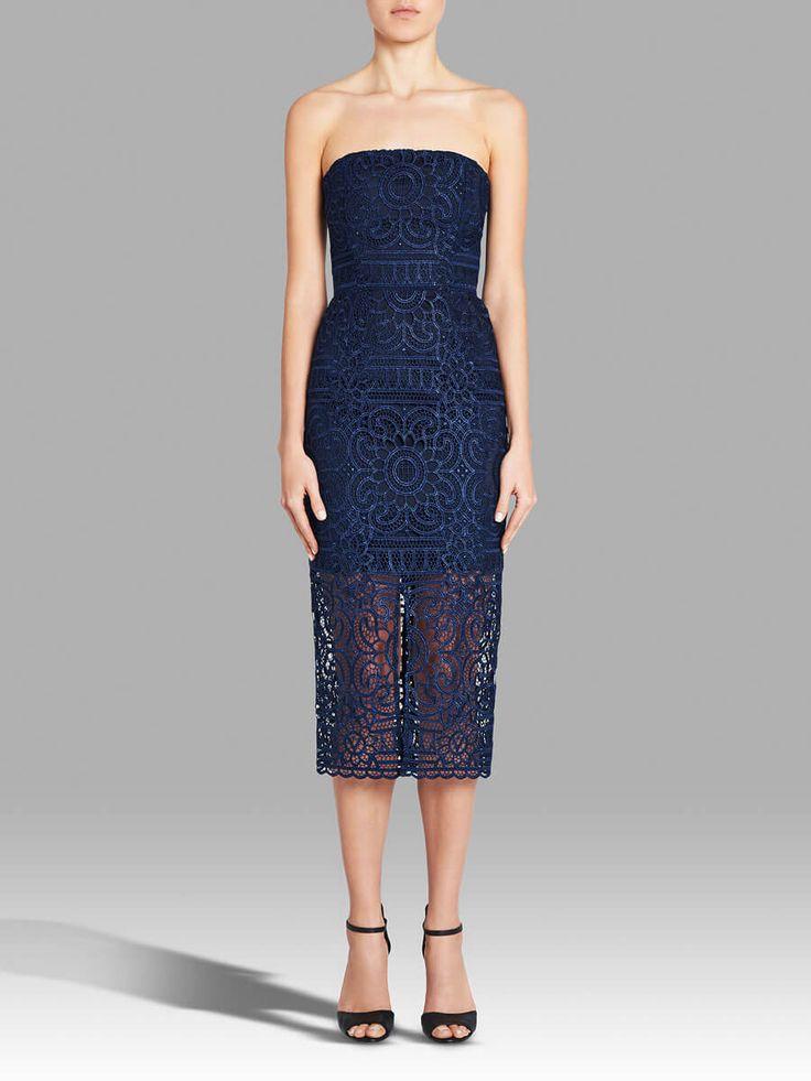 NICHOLAS - Floral Lace Strapless Dress