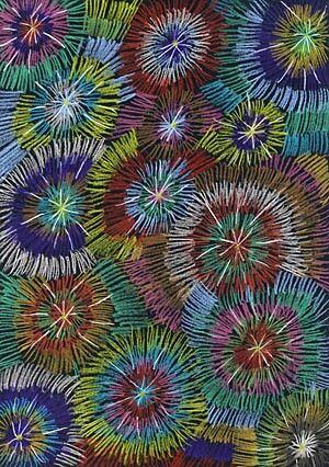 Feuerwerk mit Pastellkreiden