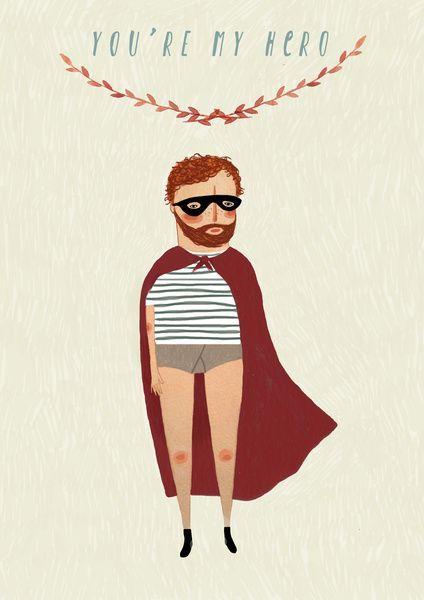 You're my hero Art Print by Chloe Joyce Illustrations | Society6