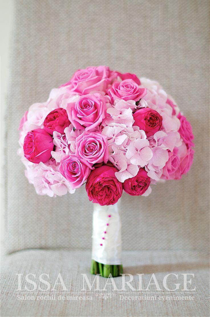 buchet nasa trandafiri roz