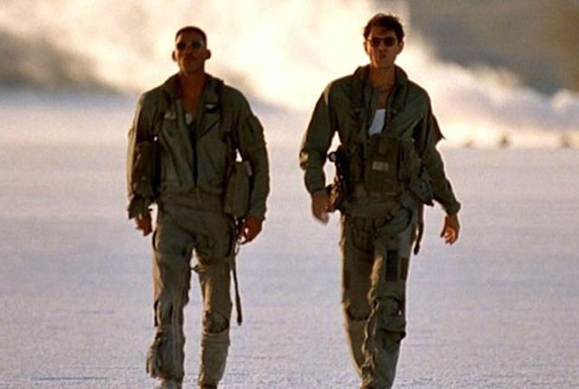 Will Smith and Jeff Goldblum in Independence Day. Loved this scene!