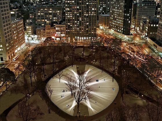 How Rafael Lozano-Hemmer's 'Pulse Park' Makes New York's Beating Heart Visible -- New York Magazine