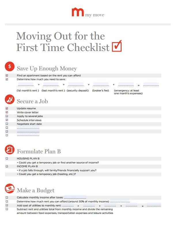 Tara, Youu0027ve Mentioned Moving Out From The Group Home And That Is A Huge  Step To Take. I Have Found A Website With A Checklist On Moving Out For The  First ...