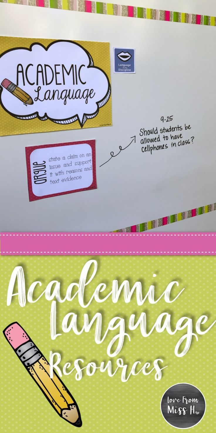Teaching academic language to our students has become more important than ever. This vocabulary can be tricky for students, but using explicit teaching strategies can help with your students' development.   Ready to start? Click the pin above to check out a few academic language resources.