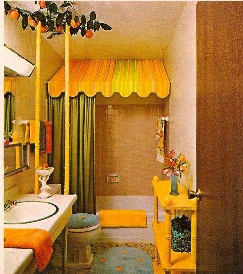 Orange Bathroom Paint, Diy Orange Bathrooms And