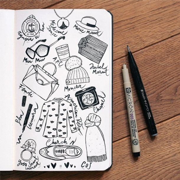 • ✏️ • Audrey Leroy's Instagram: http://instagram.com/p/vLEuCbjb5u/?modal=true #instagram #ilustration #drawing #fashion #accessories