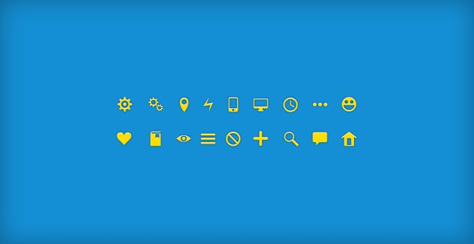 Glyph Icons - 365psd