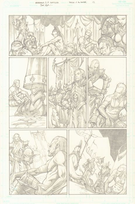 Catawiki online auction house: Original Comic Art By Chad Hardin - Games Workshop And Electronic Arts - Warhammer: Age of Reckoning - Page 12 - (2008)