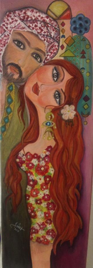 Iraqi artist Rasha Okab