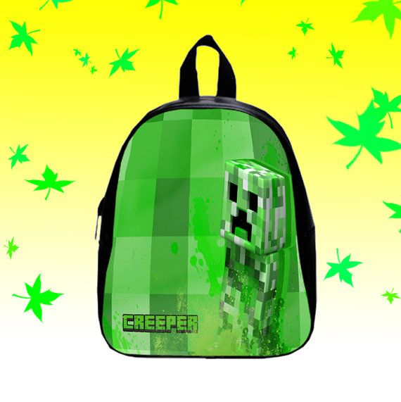 Minecraft Crepper  Backpack/SchoolBags for Kids. by FACIALBAG