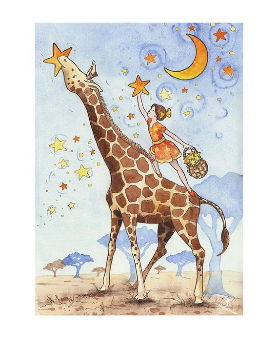 Lighting the Sky Nursery Art Print  Children's by JaneHeinrichs, $20.00