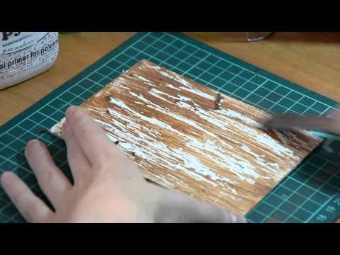 Мастер-класс. Имитация  старой деревянной поверхности