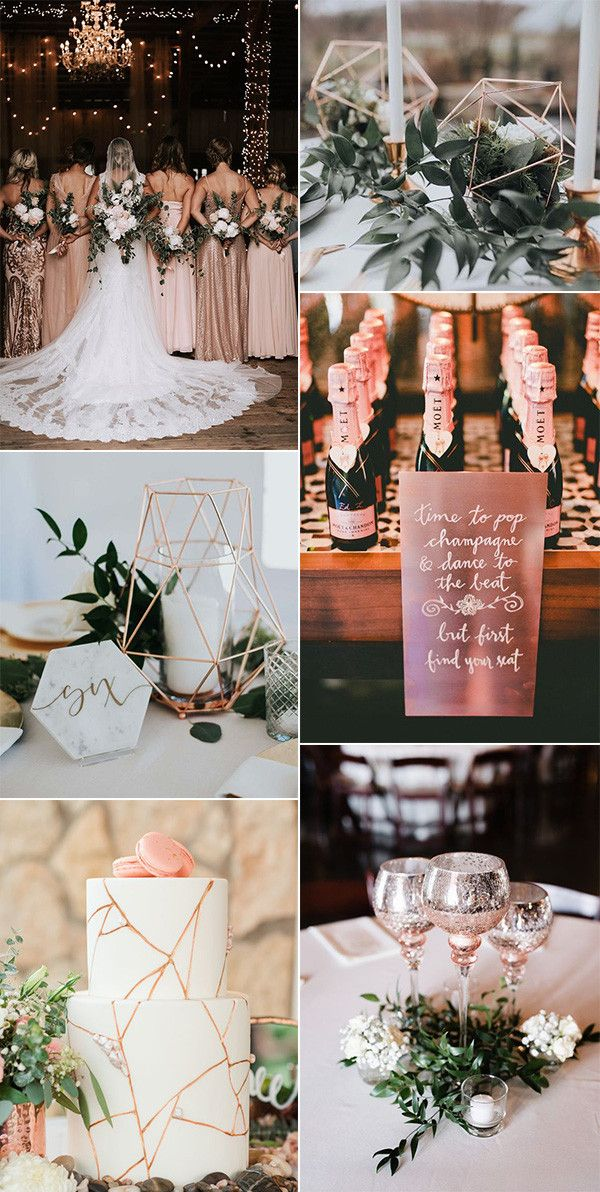 18 Gorgeous Rose Gold Wedding Ideas For 2021 Emmalovesweddings Rose Gold Wedding Decor Rose Gold Wedding Gold Wedding Ceremony