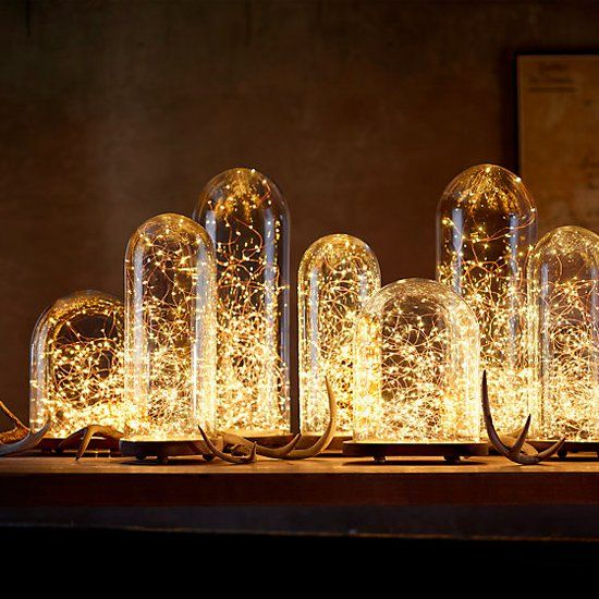 Beautiful Uses Of String Lights Indoors (image By Restoration Hardware)