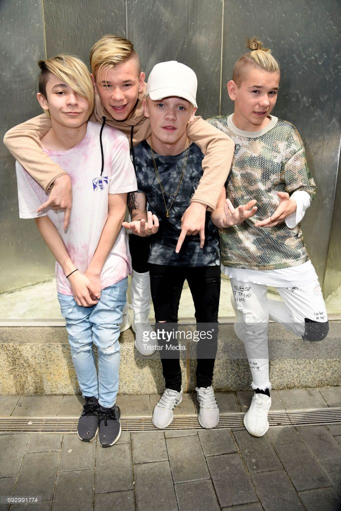 UK pop duo and teen stars Bars & Melody (Leondre Devries, Charlie Lenehan) and norwegian twin brothers pop duo and teen stars Marcus & Martinus Photo Session on June 6, 2017 in Berlin, Germany.