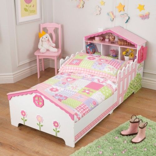 The KidKraft Dollhouse Toddler Bed Helps Make Move From A Crib To Grown Up As Easy Possible For Any Young Girl Parents Are Sure Love
