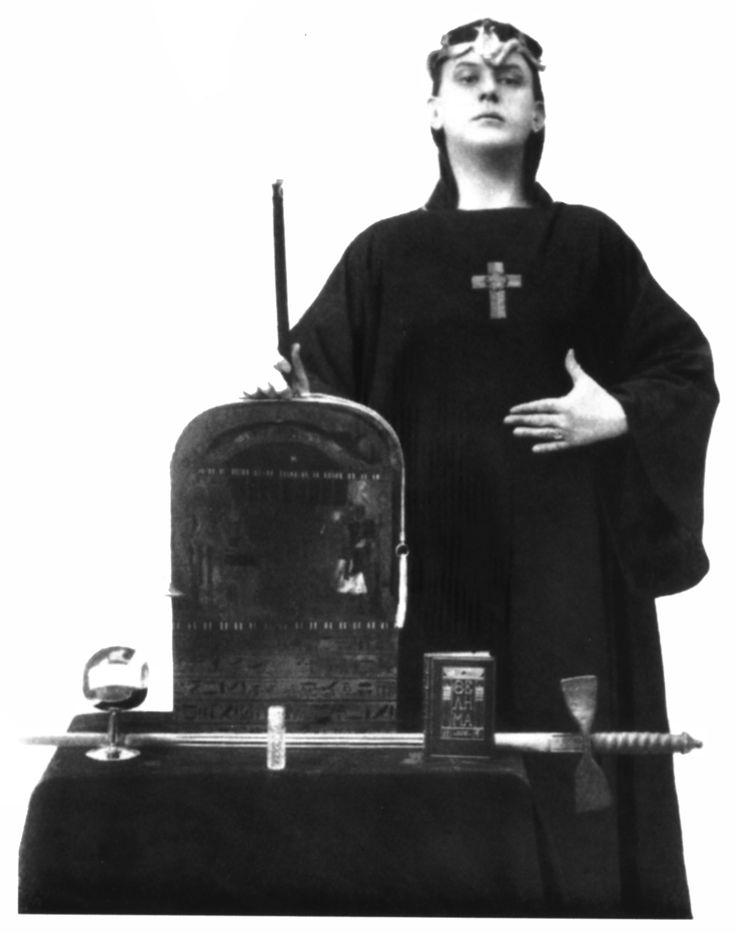 Crowley in ceremonial garb, 1912