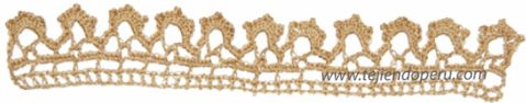 Tutorial: cenefa para aplicar tejida a crochet