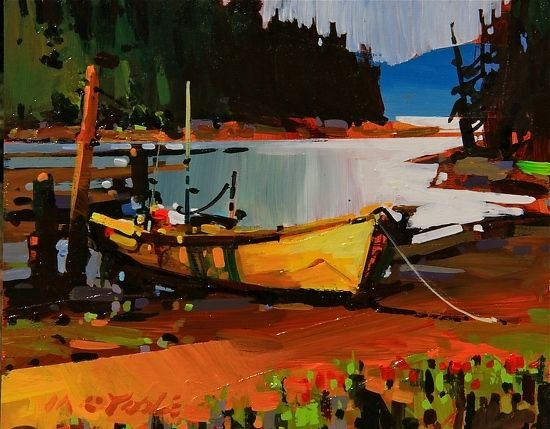 "Klemtu Inlet by Michael O'Toole Acrylic ~ 8"" x 10"""