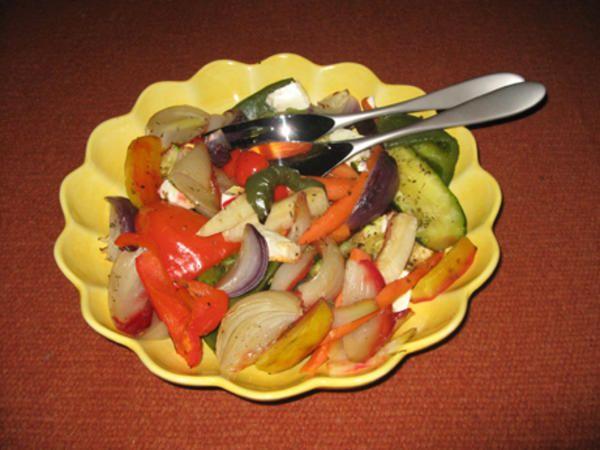 Ugnsbakade grönsaker med fetaost