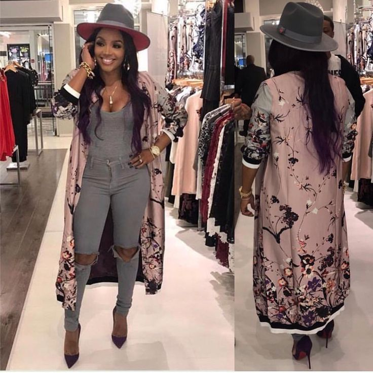 "28.5k Likes, 218 Comments - Rasheeda (@rasheedadabosschick) on Instagram: ""Back in-stock baby the Long Mauve Flower Jacket Available In-store & online at PRESSEDATL.COM DON'T…"""