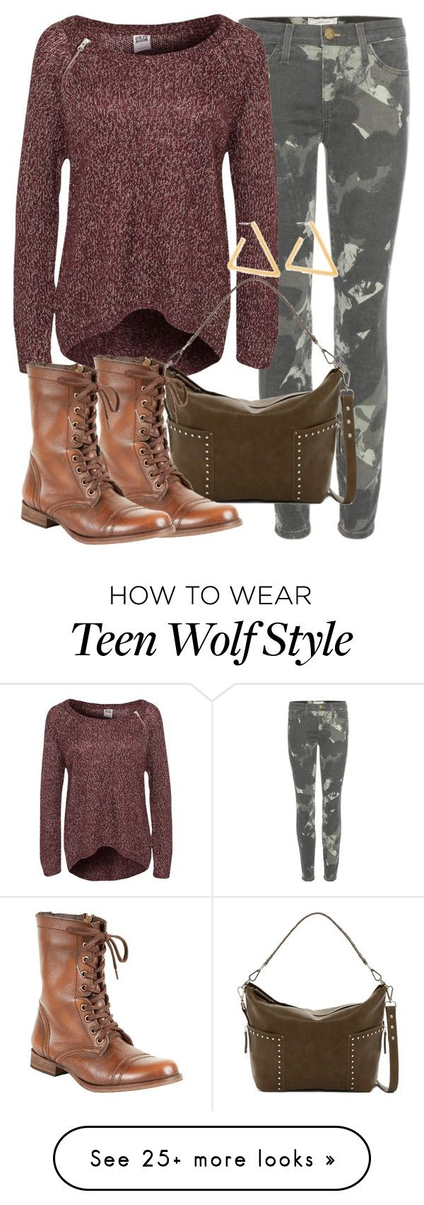 """Malia Inspired Outfit - Teen Wolf"" by clawsandclothes on Polyvore featuring Current/Elliott, Vero Moda and Steve Madden"
