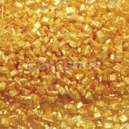 Metallic Gold Sparkling Sugar Crystals for baking and cake decorating