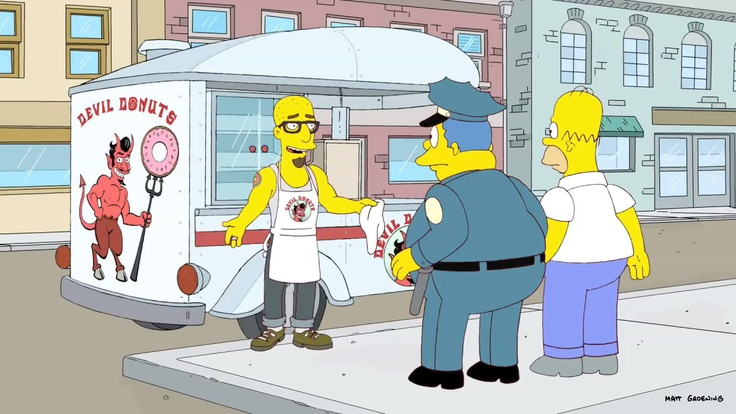 """Finished scene from the """"The Day The Earth Stood Cool"""" episode of THE SIMPSONS."""
